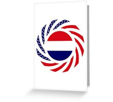 Dutch American Multinational Patriot Flag Series Greeting Card
