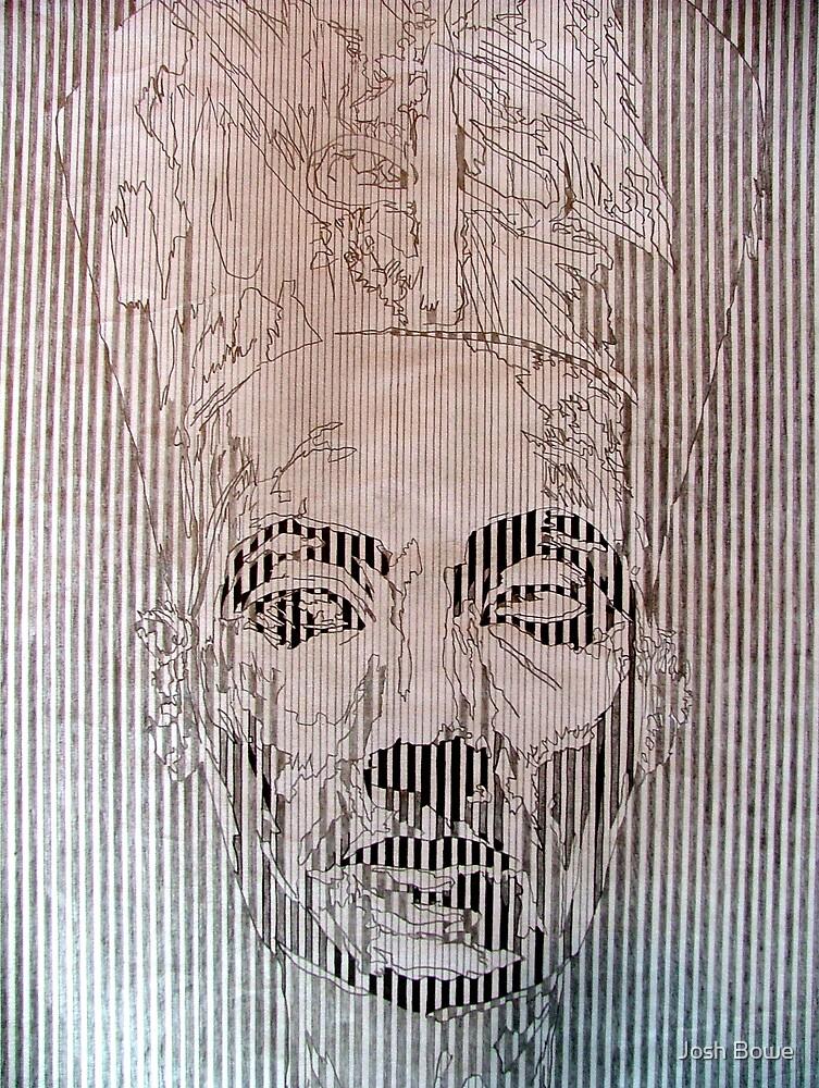Nefertiti(Line Abstraction) by Josh Bowe