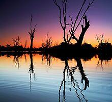Murray River Lagoon Sunset by Bill  Robinson