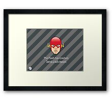 Flash has Crashed Framed Print