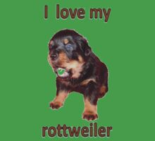 I Love My Rottweiler Kids Clothes