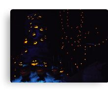 Haunted Holiday Mansion Canvas Print