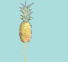 Cute Watercolor Pineapple by SoderblomArt
