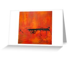 Too Hot to Handle - Original SOLD Greeting Card