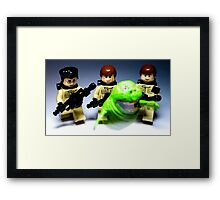 They ain't afraid of no ghost! Framed Print