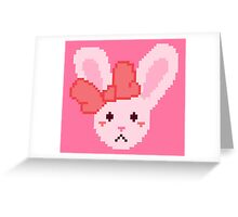 Pixel Bunny Greeting Card