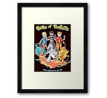 Game of Pockets Framed Print