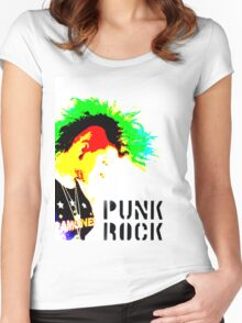 Punk Rock Mohawk Women's Fitted Scoop T-Shirt