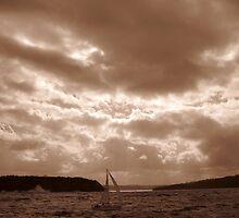 Yatch Near Middle Harbour by John Douglas