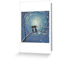 Cats in love in the moonlight Greeting Card