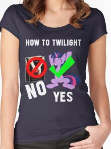 How Do I Twilight? Women's Fitted Scoop T-Shirt