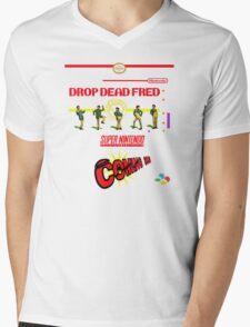 """Drop Dead Fred """"16 Bit"""" Mens V-Neck T-Shirt"""