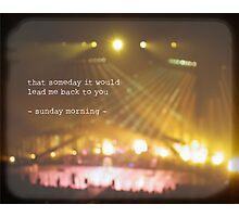 MAROON MUSIC - Sunday Morning Photographic Print