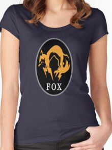 MGS - FOX Logo Women's Fitted Scoop T-Shirt