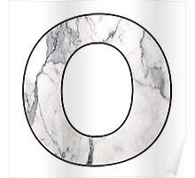 Letter Series - o (marble hugs) Poster