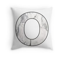 Letter Series - o (marble hugs) Throw Pillow