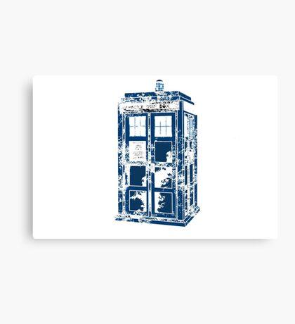 Splatter the TARDIS Canvas Print