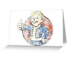 Dissolving Vault Boy   Greeting Card