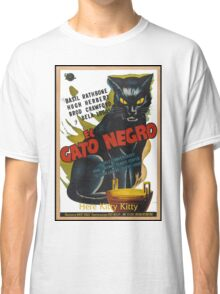 Black Cat Retro Vintage Movie  Classic T-Shirt
