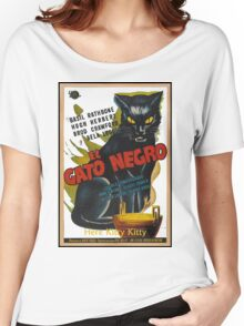 Black Cat Retro Vintage Movie  Women's Relaxed Fit T-Shirt