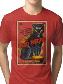 Black Cat Retro Vintage Movie  Tri-blend T-Shirt