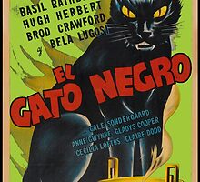 Black Cat Retro Vintage Movie  by Charlottesw3b