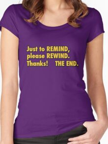 be kind rewind  Women's Fitted Scoop T-Shirt