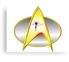 Star Trek Next Generation Archaeology Dept. Logo/Commbadge Canvas Print