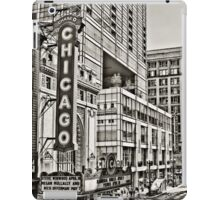 Old Theatre Sign in Chicago iPad Case/Skin