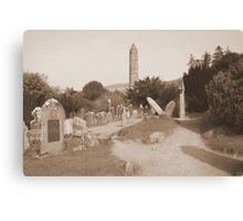 Glendalough cemetery Canvas Print