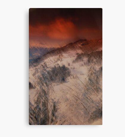 painterly snowscape Canvas Print
