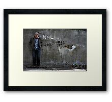 Dom and The Flower Pots Framed Print