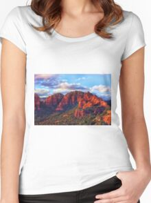 Cliffs of Sedona at Sunset Women's Fitted Scoop T-Shirt