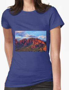 Cliffs of Sedona at Sunset Womens Fitted T-Shirt