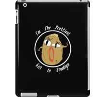 I'm The Prettiest Girl in Brooklyn (WHITE TEXT) iPad Case/Skin