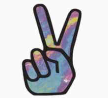 rainbow peace sign  by jessie9939