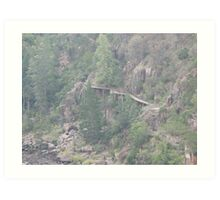 Cataract Gorge Tasmania Australia Art Print