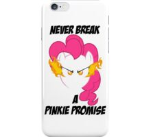Never Break a Pinkie Promise (BLACK TEXT) iPhone Case/Skin