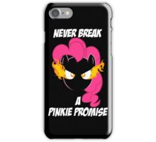 Never Break a Pinkie Promise (WHITE TEXT) iPhone Case/Skin