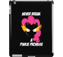 Never Break a Pinkie Promise (WHITE TEXT) iPad Case/Skin