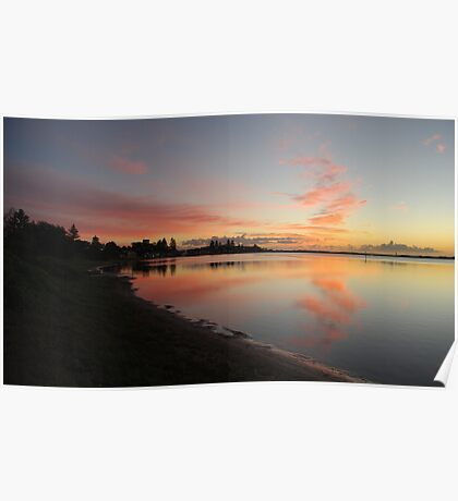 Harrington Broadwater Sunrise Poster
