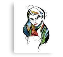Girl of Many Colors Canvas Print