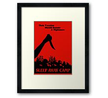 Sleepaway Camp Vintage Framed Print