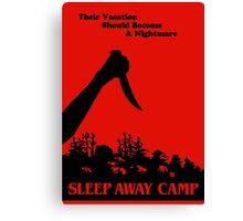 Sleepaway Camp Vintage Canvas Print