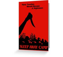 Sleepaway Camp Vintage Greeting Card