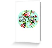 obliterate girl hate Greeting Card