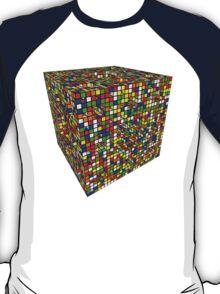Rubik Menger Sponge, three iterations. Resistance is futile. T-Shirt