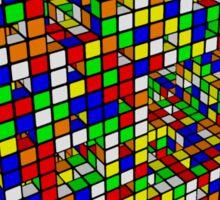 Rubik Menger Sponge, three iterations. Resistance is futile. Sticker