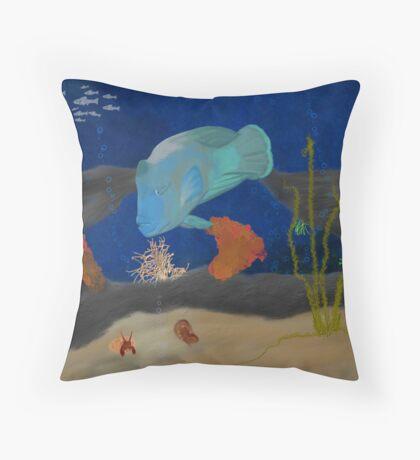 Humphead Wrasse Throw Pillow