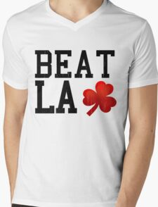 Basketball Beat LA Mens V-Neck T-Shirt